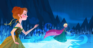 アナと雪の女王 - Anna's Act of Love/Elsa's Icy Magic Book Illustrations