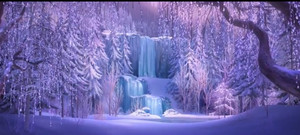 La Reine des Neiges Waterfall