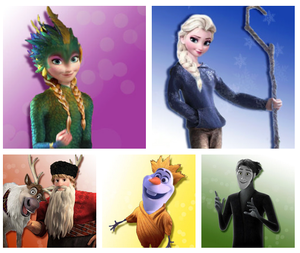 frozen as Rise of the guardians