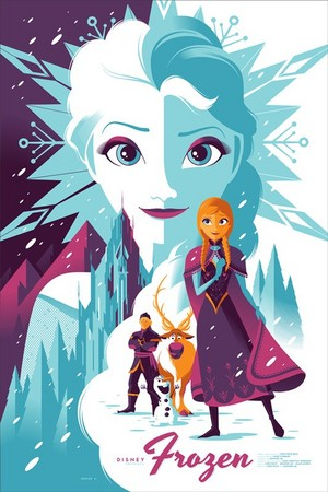 Frozen poster by Tom Whalen Limited Edition