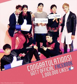 GOT7's Facebook reaches 1 million likes!