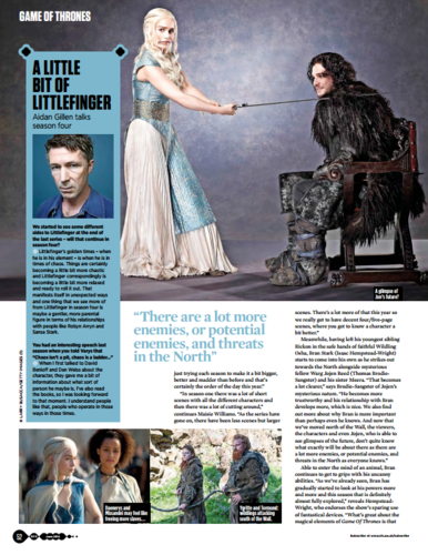 Game of Thrones wallpaper possibly with a newspaper entitled Game of Thrones - SFX June 2014