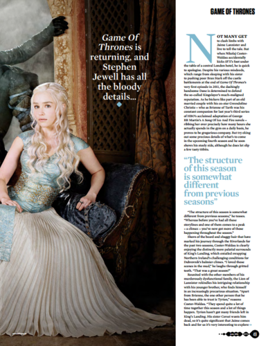 Game of Thrones wallpaper probably with a hoopskirt entitled Game of Thrones - SFX June 2014