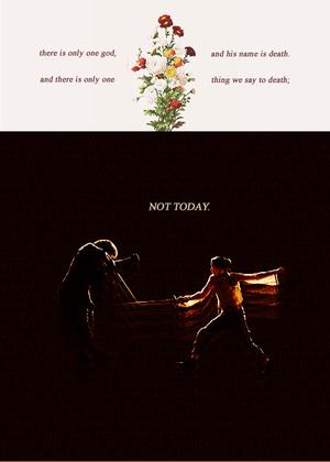 Syrio Forel & Arya Stark
