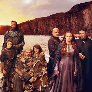 Arya, Sandor, Hodor, Bran, Sansa, Varys & Petyr
