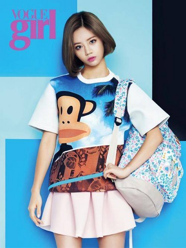 Girl's Day wallpaper probably containing a chemise, a playsuit, and a skirt titled Girl's Day's Hyeri 'Vogue Girl'