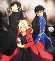 Greed/Ling, Roy Mustang and Edward Elric