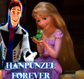 Hans,Rapunzel y Pascal - disney-crossover fan art