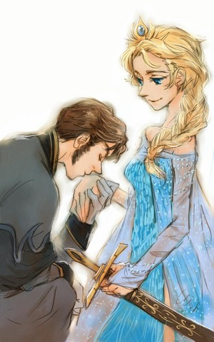 Hans wallpaper called Hans and Elsa