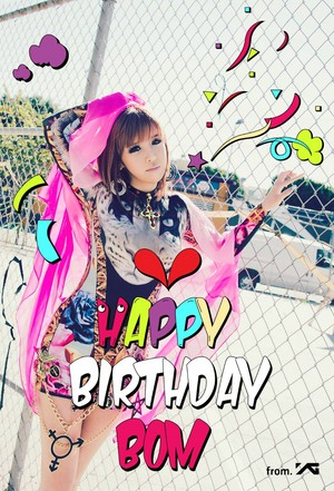 Happy Birthday to Park Bom from YG!!