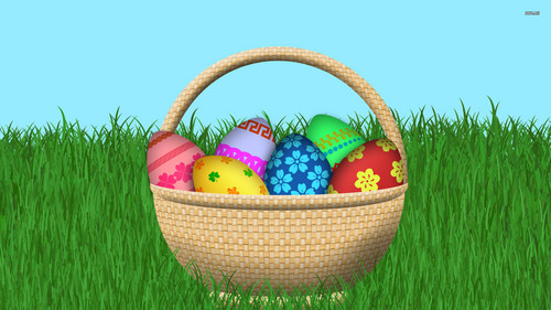 Happy Easter All My fan wallpaper possibly with a basket titled Happy Easter