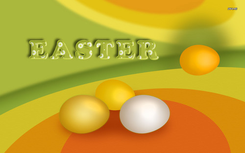 Happy Easter All My অনুরাগী দেওয়ালপত্র probably containing an egg yolk and an egg called Happy Easter