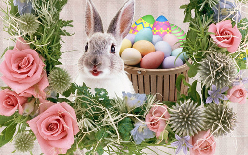 Happy Easter All My fan wallpaper probably with a bouquet called Happy Easter