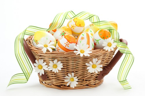 Happy Easter All My অনুরাগী দেওয়ালপত্র possibly with a basket called Happy Easter