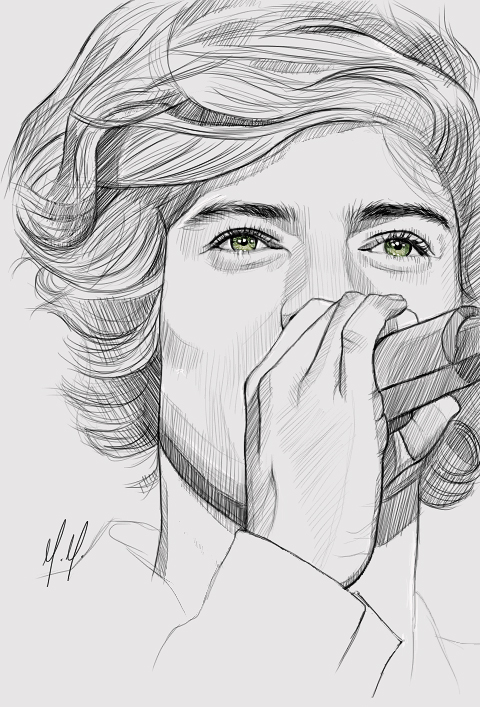 Harry stiles from 1d free coloring pages for Harry styles coloring pages