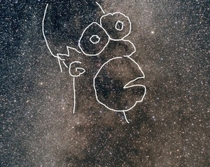 Homer Simpson Nebula (Outlined)