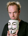 Hugo Weaving behind the mask of V - v-for-vendetta photo