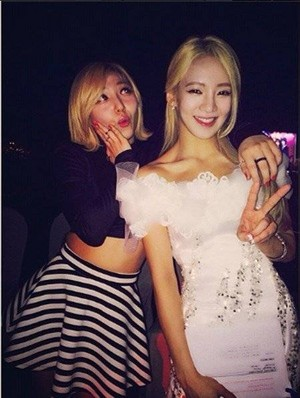 Hyoyeon and miss A's Min