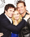 Ian, Maggie and Josh  - ian-somerhalder photo