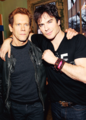 Ian and Kavin Bacon  - ian-somerhalder photo