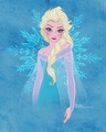 Ice queen elsa - disney-princess fan art