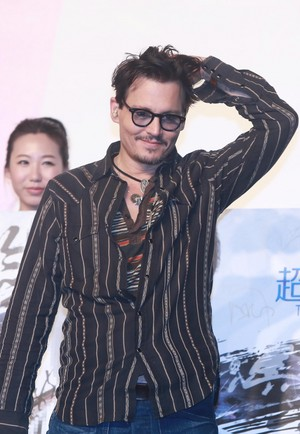 Johnny at the Beijing Premiere of Transcendence