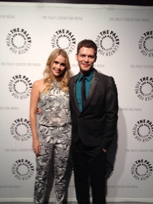 Joseph morgan and Claire Holt at PaleyFest for The Originals, Saturday March 22nd 2014