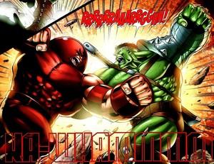 Juggernaut vs the Hulk