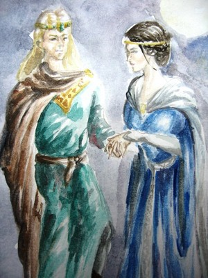 Eomer and Lothiriel - wedding by Neldor