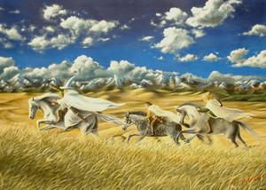 Ride to Edoras by Toni-Marie Hudson