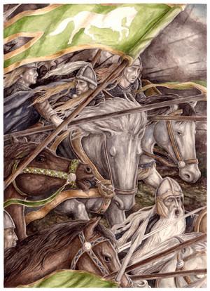 The ride of the Rohirrim 由 Peter Xavier Price