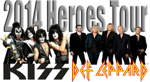 किस and Def Leppard tour 2014