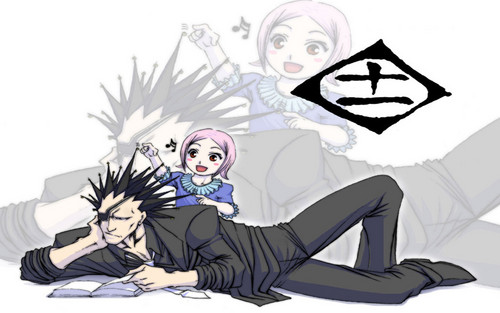 Zaraki Kenpachi Wallpaper Probably Containing Anime Entitled And Yachiru