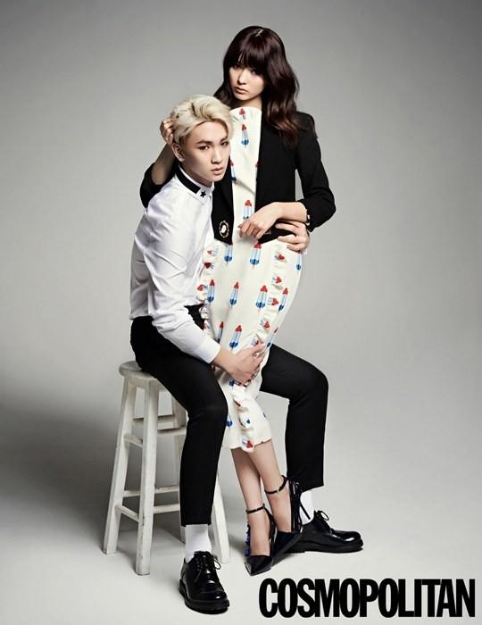 Key and Arisa Yagi for 'Cosmopolitan'