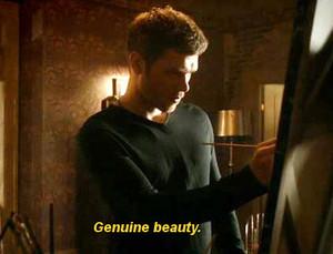 Klaus painting genuine beauty