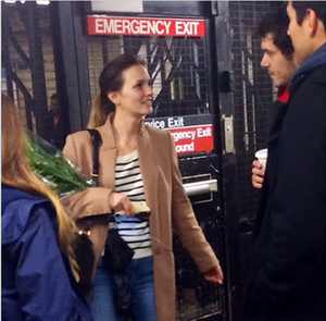 Leighton Meester and Adam Brody at Longacre Theater di Broadway, New York