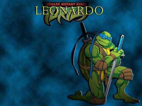 TMNT Leonardo fond d'écran with animé called Leonardo