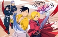 Ling Yao, LanFan, Fu, Edward Elric and May Chang