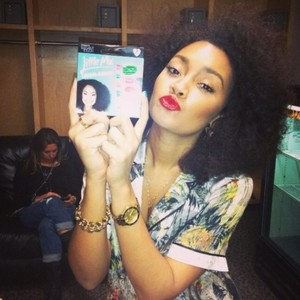 Leigh - Anne wearing her elegant touch nails
