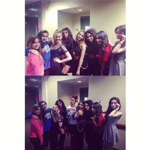 Normani publicado this on her Instagram of the girls and Fifth Harmony ❤❤❤❤