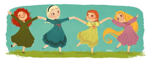 héroïnes des dessins animés de l'enfance fond d'écran probably containing animé entitled Little Princesses