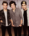 Louis, Harry and Zayn  - zayn-malik photo
