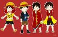 Luffy's movie clothes - one-piece fan art