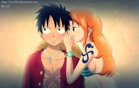 monkey d. luffy wallpaper probably with attractiveness called Luffy x Nami