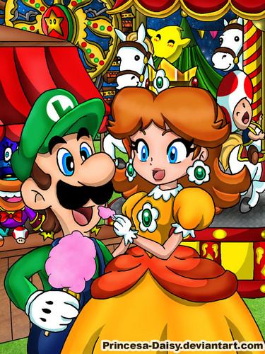 Luigi wallpaper with anime called luigi and daisy