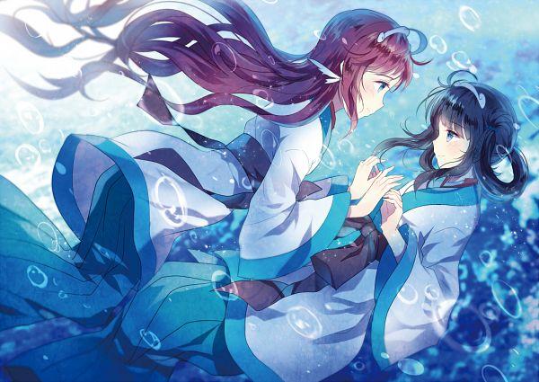 Nagi No Asukara Fond Decran Titled Manaka And Miuna
