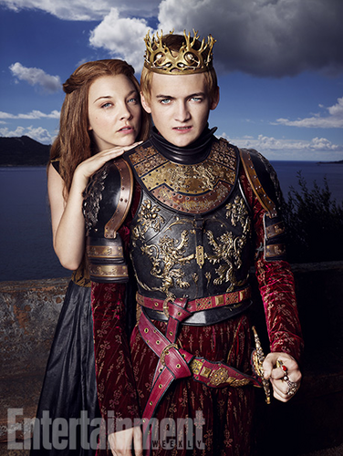 Margaery Tyrell kertas dinding with a breastplate, an armor plate, and a fauld titled Margaery Tyrell and Joffrey Baratheon