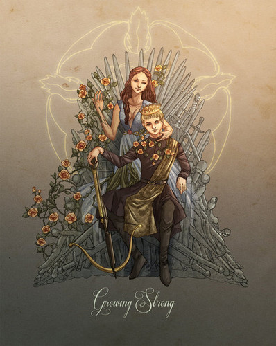 Margaery Tyrell wallpaper with anime called Margaery Tyrell and King Joffrey
