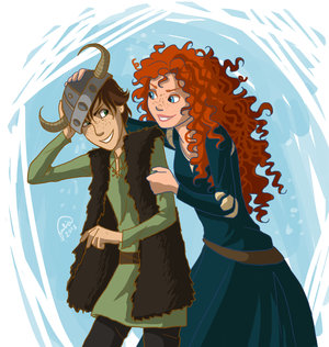 Merida and Hiccup<3