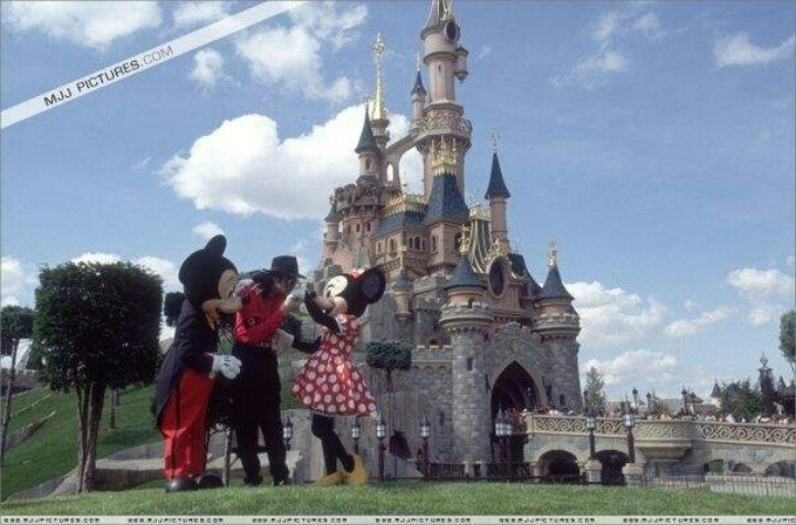 Michael Hanging Out With Mickey And Minnie